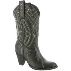 Volatile Women's Zala Boots: The Zala boot from Volatile introduces feminine Western style any fashionista will love! High Heel Cowboy Boots, Black Cowgirl Boots, Western Boots, Black Boots, Western Style, Black Slip On Shoes, Shoe Boots, Shoe Bag, Ankle Booties