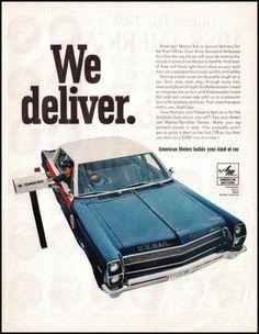 1967 American Motors Cars U s Mail Vintage Print Photo Ad AMC Ambassador | eBay