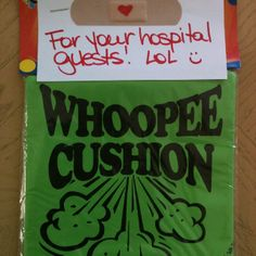 Fun hospital gift for visitors! Get Well Wishes, Hospital Gifts, Get Well Gifts, Get Well Soon, Helping Hands, Homemade Gifts, Gift Baskets, Happy Holidays, Holiday Ideas