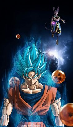 Check out this awesome collection of Goku Dragon Ball Super wallpapers, with 63 Goku Dragon Ball Super wallpaper pictures for your desktop, phone or tablet. Dragon Ball Gt, Goku Dragon, Goku Wallpaper, Wallpaper Animes, Hype Wallpaper, Mobile Wallpaper, Goku Y Vegeta, Goku Vs, Goku Blue