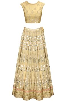 Flesh gota patti embroidered lehenga set available only at Pernia's Pop-Up Shop.