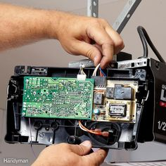 Symptom: You Have Power to the Outlet, But There's No Sound or No Lights When You Push the Wall Switch and Remotes Garage Door Repair, Garage Door Opener, Clogged Pipes, Handyman Projects, Plumbing Installation, Home Fix, Diy Home Repair, House Cleaning Tips, Told You So