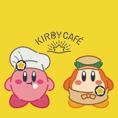 カービィの世界にカフェがあったら…。せっせと働くワドルディと、つまみ食い担当のカービィのおもてなしで、おなかも元気もいっぱいに!