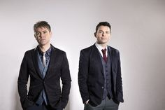 Neil Byrne and Ryan Kelly of Byrne and Kelly and Celtic Thunder.