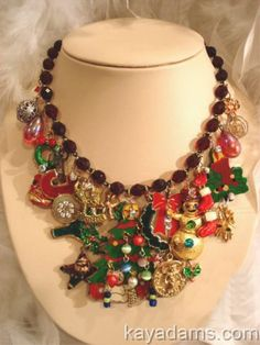 A fun Christmas necklace by Kay Adams. kayadams.com