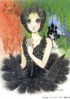 "Odile from ""Swan Lake"" ballet by manga artist Macoto Takahashi."