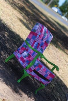 Patchwork chair with lime wood