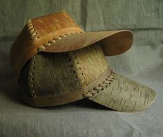 Baseball cap from birch bark. by SiberianLights on Etsy
