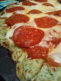 MY HCG DIET RECIPES: HcG DIET RECIPE PHASE 3 P3: Broccoli Cauliflower crust pizza no pepperoni of course
