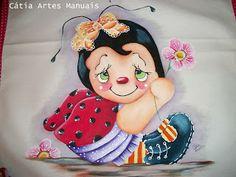 Catia Artes Manuais: PASSO A PASSO PINTURA JOANINHA COUNTRY