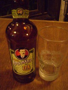 Cerveja Apolinário IPA, estilo India Pale Ale (IPA), produzida por  Cervejaria Caseira, Brasil. 5.4% ABV de álcool.
