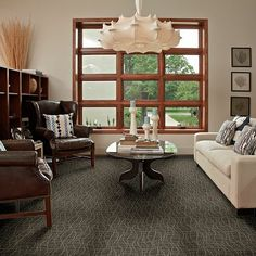 Tuftex - Twist color 00557 Skyline Steel:  ombre carpet in gray