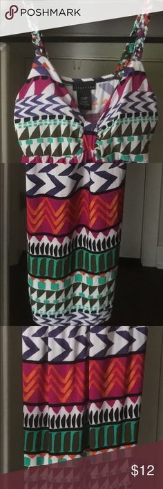Beautiful maxi sundress Braided  straps.  Maxi length.   Brand new. Polyester/ spandex Attention Dresses Maxi