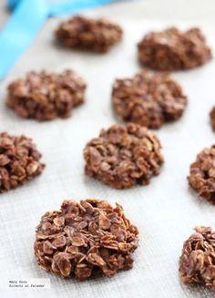 Receta de galletas de avena y chocolate sin horno. Con fotografías paso a paso, consejos y sugerencias de degustación. Recetas de postres...