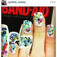 Definitely the COOLEST use of band aids we've seen to date.