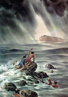 Noah tried to tell them...  Noah warned the people that God's judgment was coming. It took hundreds of years to build the Ark, and everybody knew why Noah was doing it. But nobody believed him until it was too late.