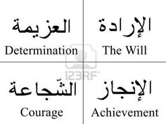 Arabic writing and translation