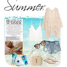 Summer by angiee-angiee on Polyvore featuring moda, Amen., MANGO, Chicnova Fashion, Monsoon, Yves Saint Laurent, Flash Tattoos, Prada and Nivea