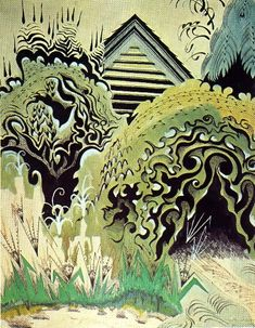 1917 The Insect Chorus. Charles Burchfield. Watercolor and opaque ink.