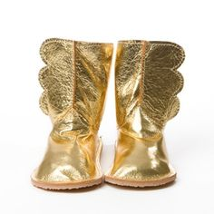 Wing Boots: Handmade by Chickpea Kid designer Emily Spray / acorn toy shop
