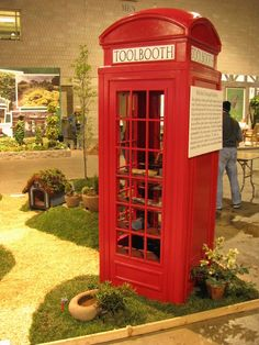 repurposed Telephone Booth... An iconic British phone booth is given new purpose as attractive ...