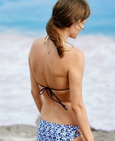 Aerie Triangle Bikini Top, Women's, Navy Blue