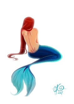 Inspired by a watercolor from TheColorfulCatStudio Photoshop Cintiq Mermay 2017 - day 23 Mermaid Artwork, Devian Art, Photoshop, Orisha, Merfolk, Sirens, Disney Characters, Fictional Characters, Animation