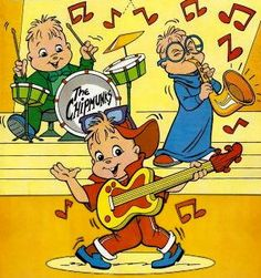 Alvin And The Chipmunks ( Alvin Y Las Ardillas ) Vintage Cartoons, Classic Cartoons, Vintage Toys, Old School Cartoons, 90s Cartoons, 90s Childhood, My Childhood Memories, Childhood Images, Disney Viejo