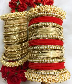 Marriage ceremony Put on Newest Bangle Designs 2018 Catalogue Indian Wedding Jewelry, Indian Jewelry, Indian Bangles, Indian Bridal, Bridal Bangles, Bridal Jewelry, Anklet Jewelry, Chuda Bangles, Bridal Chuda