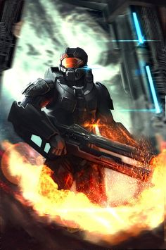 Master Chief l Halo Halo Game, Halo 5, Master Chef, Video Game Art, Video Games, Starwars, Heavy Metal, Halo Master Chief, Halo Series