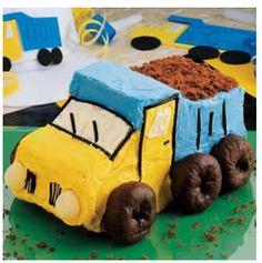 Dump Truck Cake  http://www.tasteofhome.com/Recipes/Dump-Truck-Cake