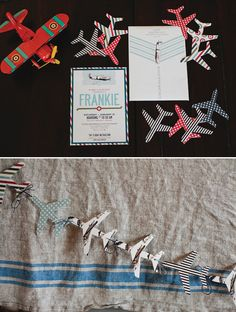 This airplane theme party is great for any child who always points up at the sky and gets excited about aviation!  Must keep this in mind for my son's next party!  Via - Posh-Paperie