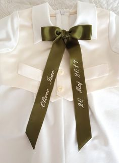 Christening Gowns, Ribbon, Beautiful, Tape, Treadmills, Band, Bow