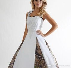 Wedding Dress Designs Plus Size Cheap New Camo Wedding Dress Lace Straps Criss Cross Backless White Camouflage Ball Gown Bridal Dress Chapel Train Custom Made Uk Wedding Dresses From Fashion_online, $146.6| Dhgate.Com