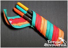 Estuche con tres cremalleras #PencilCase #Zipper