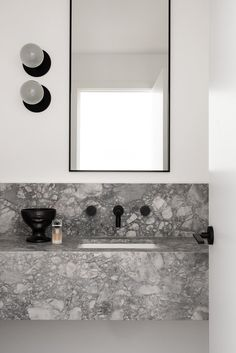A Narrow Home in Australia Inspired by Belgian + French Contemporary Architecture - Design Milk Richly textured and carefully curated, the KBS Residence by Nickolas Gurtler Interior Design features clean lines and a custom feel. Bad Inspiration, Decoration Inspiration, Bathroom Inspiration, Decor Ideas, Contemporary Architecture, Contemporary Interior, Architecture Design, Contemporary Bathrooms, Interior Minimalista