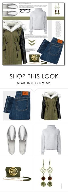 """""""Olive !"""" by emapolyvore ❤ liked on Polyvore featuring PS Paul Smith, FitFlop, Le Kasha, Dareen Hakim and Anja"""