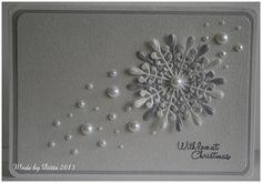 CAS (clean and simple) kaart Christmas Cards 2018, Homemade Christmas Cards, Stampin Up Christmas, Christmas Greeting Cards, Homemade Cards, Beautiful Christmas Cards, Christmas Makes, Noel Christmas, Handmade Christmas