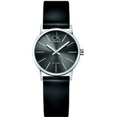 $221.50 Calvin Klein Women's CK7622107 Post Minimal Black Dial Watch