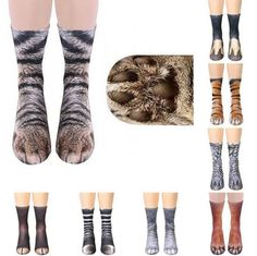 7a92e873b63 Extra Off Coupon So Cheap Funny Adult   Kids Unisex Animal Paw Crew Print  Socks Elastic Breathable Sock