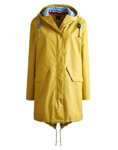 Joules Womens Parka-style Jacket, Gold.                     For keeping the cold at bay and the rain away, this waterproof parka-style jacket ticks all the boxes. Exceptional light, it's great to scrunch up and pack away. The lining has been added to make sure this parka packs a punch even when over the back of a chair.