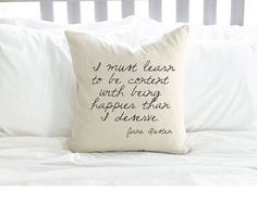 Jane Austen Quote Pillow   21 Items Every Jane Austen Lover Needs To Own