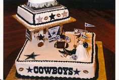 I know we're not doing a wedding but this is cute   Dallas Cowboys Grooms Cake