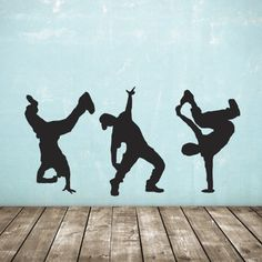 Street Dance Wall Stickers - Pack of 3 - Hip Hop Dancer Decals: Amazon.co.uk: Kitchen & Home