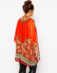 Enlarge ASOS CURVE Kimono In Placement Print