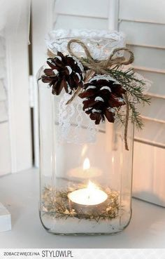 zimowy świecznik
