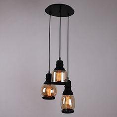 UNITARY BRAND Glass Shade Mason Jar Pendant Light Max 60W With 3 Lights Plating Finish, http://www.amazon.com/dp/B00X9SU8KM/ref=cm_sw_r_pi_awdm_F0bQwb17DZAEA