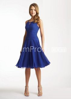 US $79.99 Free Shipping Cheap And Dramatic Chiffon Bateau Neckline Knee Length Cocktail/Prom Dresses