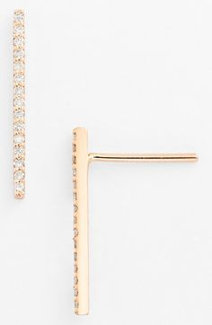 kismet by milka 'Lumiere' Diamond Stud Earrings available at #Nordstrom