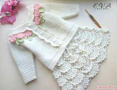 Irish crochet &: GIRLS JACKET + SKIRT ... ДЛЯ ДЕВОЧКИ